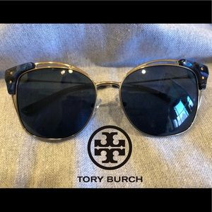 Tory Burch Sunglasses TY6049 Blue and gold